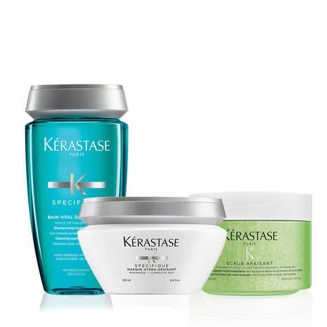 Fusio Scrub Sensitive Scalp Home Treatment Hair Care Set