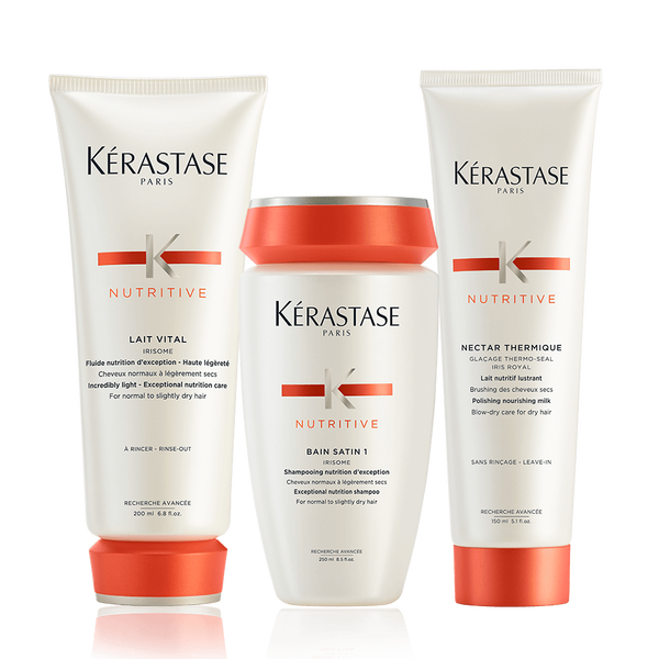 Nutritive Irisome 3-Step Hair Care Regimen For Normal to Slightly Dry Hair