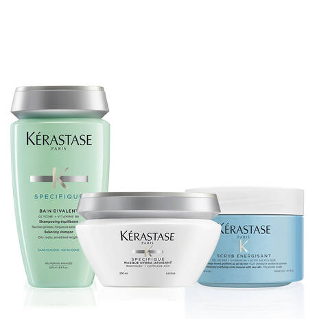 Fusio Scrub Oily Scalp Home Treatment Hair Care Set