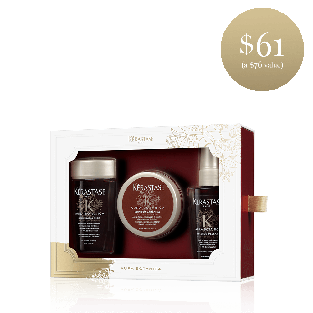 6100 usd female kerastase aura botanica travel set for dull devitalized hair