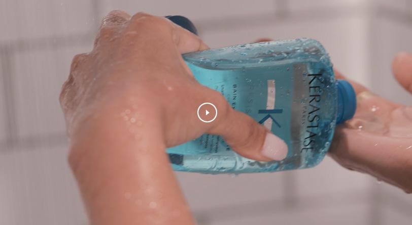 Learn how to use Bain Extentioniste shampoo video tutorial