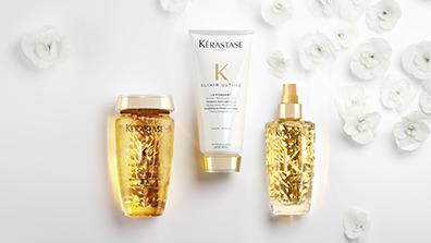 Kerastase Elixir Ultime Shampoo, Conditioner & Hair Oil