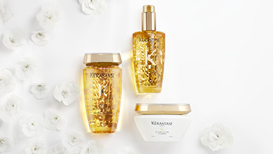 Kerastase Elixir Ultime Shampoo, Hair Mask & Hair Oil